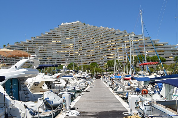 The Baie des Anges Marina in the Nice area on the french riviera