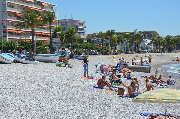 Beach in Cros de Cagnes