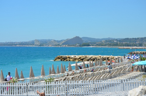 A private beach in Cagnes sur Mer