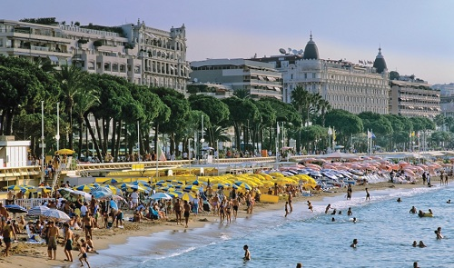 Cannes one of the major seaside resort on the french riviera