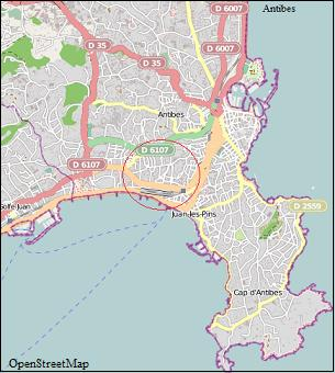 Juan les Pins Map
