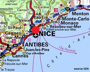 Mappa di Nizza
