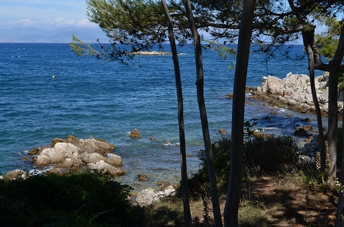 Creek in Cap d'Antibes in a paradisiacal place
