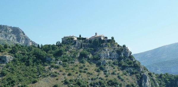 Le village perché de Gourdon à proximité de Grasse