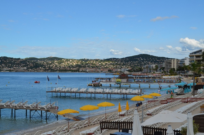 Juan les Pins: beach in the casino area