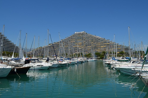 The marina Bay of Anges of Villeneuve-Loubet