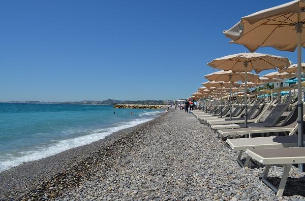 Une plage privée à Cagnes sur Mer