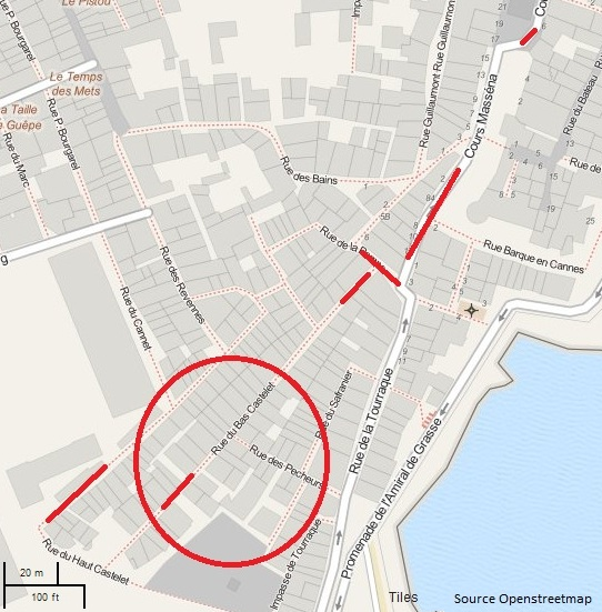 Plan du quartier du Safranier Antibes