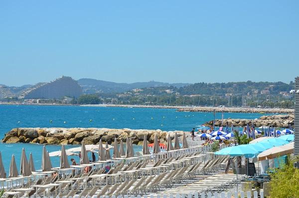 A private beach in Cagnes sur Mer (Cros de Cagnes)