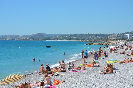 Le spiagge a Cros de Cagnes Francia