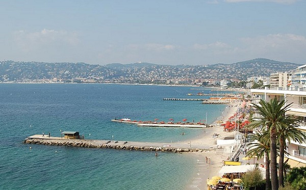 Seaside resort of Juan les Pins on the french riviera